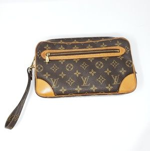 100% Auth Louis Vuitton Marly Dragonne GM Clutch